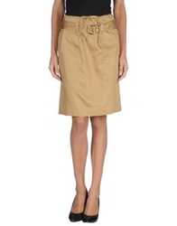 Celine Celine Knee Length Skirts Khaki