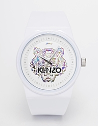 Kenzo Tiger Silicone Strap Watch White