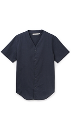 Shades Of Grey Baseball Shirt Black Blue Check
