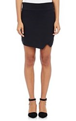 Barneys New York Crossover Miniskirt Black