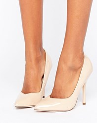 Paper Dolls Pointed Stiletto Court Shoe Nude Beige