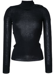 Etoile Isabel Marant Fitted Poloneck Sweater Black
