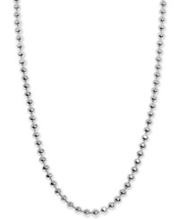 Alex Woo Beaded Chain Collar Necklace In Sterling Silver Available In 16 And 18