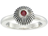 King Baby Studio Ribbed Sphere Ring W Ruby Silver Ruby