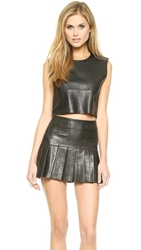 Love Leather The Candy Crop Top Black