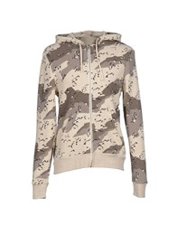 Alternative Earth Topwear Sweatshirts Men Beige