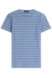 Baldessarini Striped Cotton T Shirt Blue