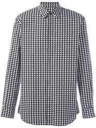 Dsquared2 Houndstooth Print Shirt Black