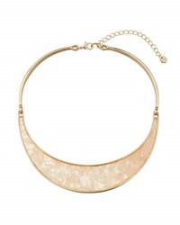 Lydell Nyc Simulated Mother Of Pearl Collar Necklace White