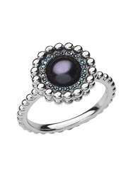 Links Of London Effervescence Blue Diamond And Pearl Ring Silver