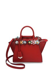 Fendi 2 Jours Flower Studded Leather Tote Bloody Mary