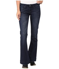 Rock And Roll Cowgirl Trousers Low Rise In Dark Wash W8 8486 Dark Wash Women's Jeans Navy