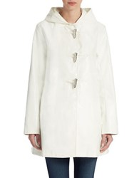 Jane Post A Line Duffle Coat White