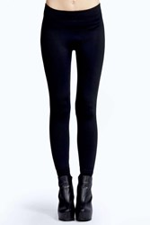 Boohoo Basic Fleece Lined Supersoft Leggings Black