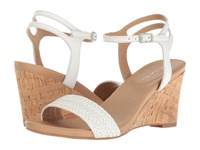 Tahari Friend White Woven Braid Nappa Women's Wedge Shoes