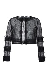 Oscar De La Renta Lace Evening Jacket Black