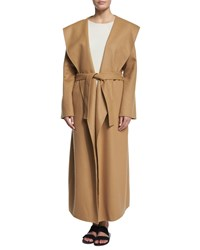The Row Muna Belted Long Robe Coat Camel