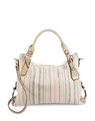 Jessica Simpson Ryanne Top Zip Satchel Beige