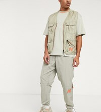 New Balance Utility Pack Utility Woven Logo Sweatpants In Beige Exclusive To Asos