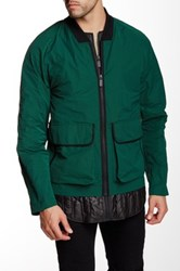 Hunter Original Pocket Waterproof Bomber Jacket Green