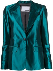 Each X Other Tailored Satin Jacket Green