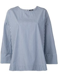 Woolrich Striped Tunic Top Blue