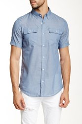 Burnside Short Sleeve Woven Shirt Blue