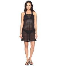 Prana Page Dress Cover Up Solid Black Women's Swimwear