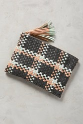 Anthropologie Woven Paloma Clutch Mint