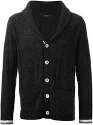 Guild Prime Cable Knit Button Cardigan Black