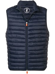 Save The Duck Padded Gilet Blue