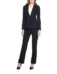 Tahari By Arthur S. Levine Two Piece Pants Suit Set Black White