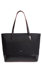 Lodis Kate Fabia Under Lock And Key Nylon And Leather Tote Black