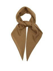 Ryan Roche Rolled Edge Cashmere Scarf Brown