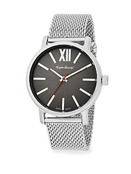 English Laundry Stainless Steel Mesh Watch Silver Grey