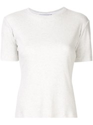 Kacey Devlin Ribbed Fit T Shirt Neutrals