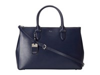 Lauren Ralph Lauren Newbury Double Zip Satchel Navy Satchel Handbags
