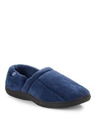 Isotoner Fleece Slippers Navy