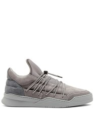 Filling Pieces Lee Low Top Leather Trainers Grey