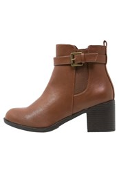 Evans Ana Ankle Boots Brown