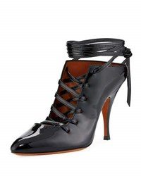 Givenchy Lace Up Patent 100Mm Pump Black