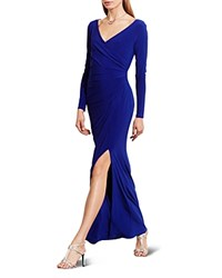 Ralph Lauren Crossover Gown Passage Blue