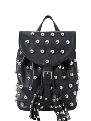 Red Valentino Small Studded Leather Backpack Navy