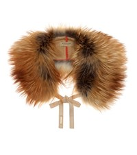 Burberry Fur Collar Brown