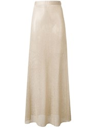 Fisico Knitted Maxi Skirt Gold