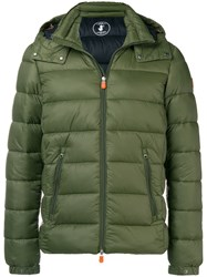 Save The Duck Padded Hooded Jacket Green