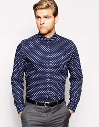 Ted Baker Shirt With Cross Print Navy