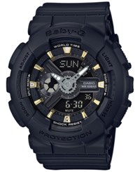 G Shock Baby Women's Analog Digital Black Resin Strap Watch 43X46mm Ba110ga 1A