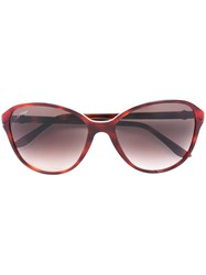 Cartier 'Double C Decor' Sunglasses Red