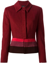 Jean Louis Scherrer Vintage Colour Block Jacket Red